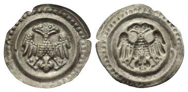 Lot 268: Ulm or Memmingen (?). Uncertain imperial mint. Bracteate, ca. 1260/70.