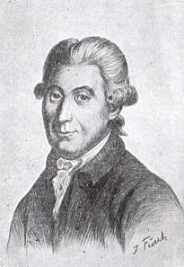 Carsten Niebuhr (1733-1815), Zeichnung von Julius Fürst.