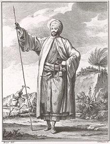 Porträt von Carsten Niebuhr in Landestracht.