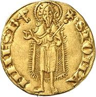 Republik Florenz, Fiorino d'oro, 1305. Rs. Johannes der Täufer, Münzzeichen. Münzkabinett Winterthur, Inv.Nr. M 3931. Foto: Lübke & Wiedemann, Stuttgart.