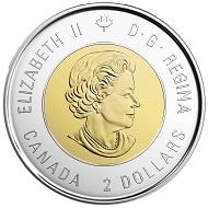 Canada / 2 CAD / Design: Susanna Blunt (obverse), Tony Bianco (reverse) / Mintage: 5 million.