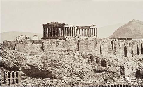 Akropolis, Athen, 1889, anonym. Reiss-Engelhorn-Museen, Mannheim.