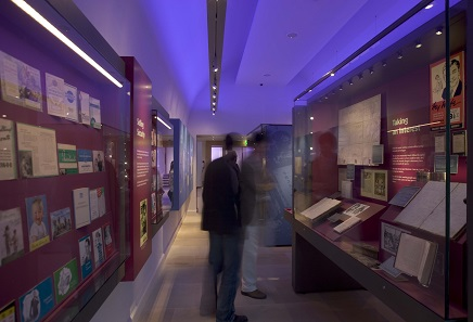 "View inside the permanent display of the Edinburgh ""Museum on the Mound"". Photo: Lloyds Banking Group / Paul Zanre."
