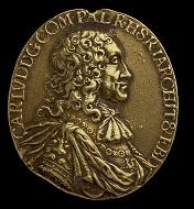 Medal awarded to Elias Ashmole, 1671. © Ashmolean Museum, University of Oxford.
