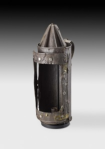 Guy Fawkes' Lantern. London, England, c. 1605. Iron and horn, height 34.5 cm. © Ashmolean Museum, University of Oxford.