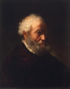 Govert Flinck, Brustbild eines bärtigen alten Mannes, um 1638-1649. Galerie Hans, Hamburg. Foto © Galerie Hans, Hamburg.