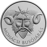 Hungary - 5000 HUF - 925 silver - 31.46 g - 38.61 mm - The Busó Festivities of Mohács - 3,000 (BU) and 5,000 (proof) - G. Gáti.