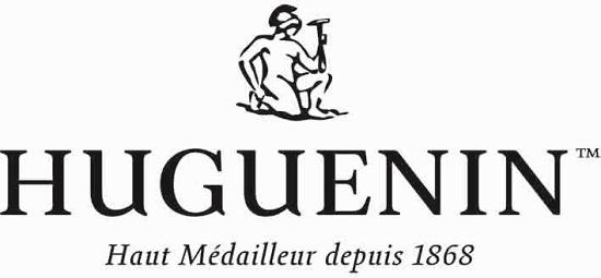 Die Firmenlogos von Gravura Kunstpräge GmbH und von Huguenin SA.