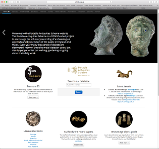 The website of the Portable Antiquities Scheme. Caution! It is addictive! It offers such a wealth of details and search options.