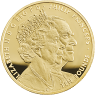Great Britain / 10 Pounds / Gold .9999 / 156.295 / 50mm / Design: Etienne Miller (obverse) and John Bergdahl (reverse) / Mintage: 175.