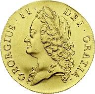 Großbritannien. George II. 1727-1760. 2 Guineas 1739. Intermediate Head. Selten in dieser Erhaltung. Sehr schön/vorzüglich, kl. Randfehler.