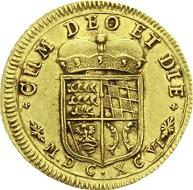 Württemberg. Eberhard Ludwig, 1693-1733. Dukat 1696, Stuttgart. Sehr selten. Vorzüglich, kl. Kratzer.