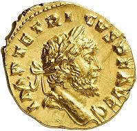 295 / Nr. 1070: Tetricus I., 271-274. Aureus, 273/4, Köln. Äußerst selten. Vorzüglich. Taxe: 50.000,- Euro. Zuschlag: 80.000,- Euro.