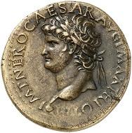295 / Nr. 709: Nero, 54-68. Sesterz, um 67, Lugdunum. Aus Leu 57 (1993), Nr. 254. Sehr selten. Fast vorzüglich. Taxe: 20.000,- Euro. Zuschlag: 46.000,- Euro.