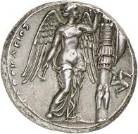 295 / Nr. 214: Syrakus (Sizilien). Agathokles, 317-289 v. Chr. Tetradrachme, 304-289. Aus Auktion Sternberg 13 (1983), 97. Vorzüglich. Taxe: 7.500,- Euro. Zuschlag: 11.000,- Euro.