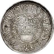 296 / Nr. 1748: Solothurn (Schweiz). Taler 1501. Aus der Sammlung eines Geschichtsfreundes. Aus Auktion Leu 66 (1996), Nr. 61. Sehr selten. Gutes sehr schön. Taxe: 7.500,- Euro. Zuschlag: 24.000,- Euro.