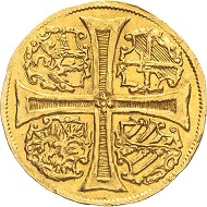 297 / Nr. 3712: Sachsen. Christian I., 1586-1591. 2 Dukaten 1590, Dresden. Sehr selten. Vorzüglich. Taxe: 25.000,- Euro. Zuschlag: 50.000,- Euro.