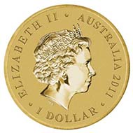 Australia - 1 AUD - Aluminium / Bronze - 20.0 g - 39.34 mm - Mintage: Unlimited - Designer: Tom Vaughan.