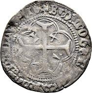 Lot 5912: Lausanne, Bishopric. Benoît de Montferrant (1476-1491). Parpaiolle 1477. Hammer price: SFr 18'000.