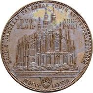 Lot 2820: Commemorative double gulden 1887, bronze strike, minted in Vienna. Hammer price: SFr 26'000.