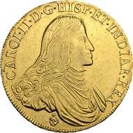 Lot 3142. Belgium. Brabant. Charles II (1665-1700). Ducaton d'or 1687. Hammer price: SFr 130'000.