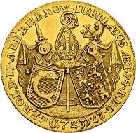Lot 4457: Monastery Rheinau, Gerold von Zurlauben. Double ducat 1723. Hammer price: SFr 22'000.