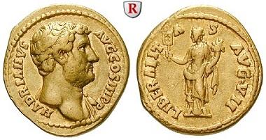 Römische Kaiserzeit. Hadrian, 117-138. Aureus, 138, Rom. Sehr schön – vorzüglich. Schätzung: 5500 Euro.