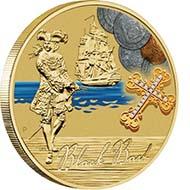 Tuvalu - 1 TVD - Aluminium / Bronze - 13.8 g - 30.6 mm - Mintage: Unlimited - Designer: Wade Robinson.