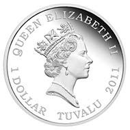 Tuvalu - 1 TVD - 1oz 999 silver - 31.14 g - 40.6 mm - Mintage: 5.000 - Designer: Tom Vaughan.