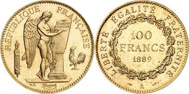 Lot 1088: France. Third Republic, 1870-1914. 100 francs 1889, Paris. PCGS PR65. Starting price: 100,000 euros.