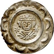 Lot 2030: Donauwörth. Philip – Otto IV – Friedrich II, 1198-1208-1215-1250. Bracteate. 2nd known specimen on the market. Extremely fine. Estimate: 4,000,- euros. Hammer price: 8,500,- euros.