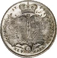 Lot 2432: Hanau-Münzenberg. Maria von Braunschweig, 1760-1764. Konventionstaler 1764, Hanau. Extremely rare. First strike. FDC. Estimate: 20,000,- euros. Hammer price: 24,000,- euros.