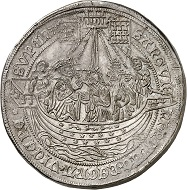 Lot 2519: Cologne, city. Triple dreikönigstaler no date (1610-1620). Probably unique. Extremely fine. Estimate: 4,000,- euros. Hammer price: 19,000,- euros.