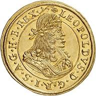 Lot 3011: Holy Roman Empire. Leopold I, 1657-1705. Double ducat 1687, Graz. Very rare. FDC. Estimate: 15,000,- euros. Hammer price: 17,000,- euros.