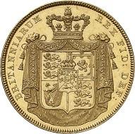 Nr. 3231: Großbritannien. Georg IV., 1820-1830. 5 Pounds 1826, London. Nur 150 Exemplare geprägt. Von polierten Stempeln. Vorzüglich / Vorzüglich bis Stempelglanz. Taxe: 25.000,- Euro. Zuschlag: 30.000.- Euro.