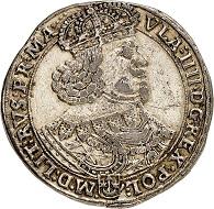 Nr. 3310: Polen. Wladislaus IV., 1632-1648. Dicker Doppeltaler 1647, Krakau. Äußerst selten. Altvergoldet, sonst sehr schön. Taxe: 5.000,- Euro. Zuschlag: 32.000,- Euro.
