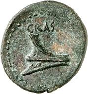 Lot 409: Knossos (Crete). Crassus, ca. 37-36 BC. AE. Very fine. Estimate: 500,- euros. Hammer price: 4,400,- euros.