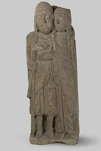 Kreuzfahrerpaar, zweite Hälfte 12. Jahrhundert. Musée Lorrain, Nancy. © Musée Lorrain, Nancy / Foto: Michel Bourguet.