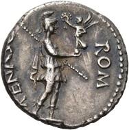 Galba, 68-70. Denar, Spanien. BON EVENT Kopf des Bonus Eventus n. r. Rv. ROM – RENASC Roma n. r. stehend, auf der ausgestreckten Rechten kleine Victoria, die sie bekränzt. RIC 9. Vorzüglich. Taxe: 1.500 CHF. Aus der Galba Collection, Auktion Hess-Divo 333 (30. November 2017), Nr. 88.