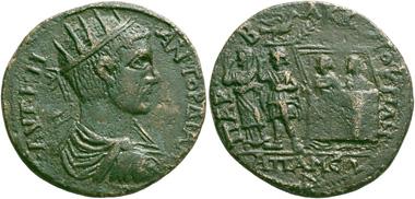 282: Gordian III, 238-244. Apameia (Phrygia). Bronze. Extremely rare. Almost extremely fine. Estimate: 10,000 euros. Starting price: 6,000 euros.