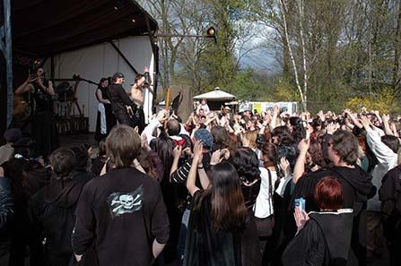 Die Band Saltatio Mortis. Foto: Michael Müller.