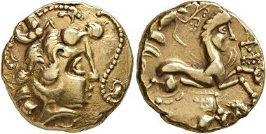 Los 2: Kelten. Veneti, 2. Jh. v. Chr. Stater. Vorzüglich. Schätzpreis: 10.000 CHF. Zuschlag: 24.000 CHF.