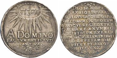 Los 1522: Schweden. Gustaf II. Adolf, 1611-1632. Reichstaler 1631, Erfurt. AAJ 21c. Dav. 4544.