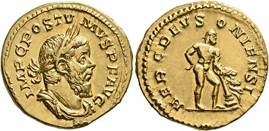 Los 341: Postumus, 260-269. Aureus, early 262, Cologne. Light marks on the highest points and with very light traces of mounting, otherwise, extremely fine. Estimate: 40,000 CHF. Hammer price: 44,000 CHF.