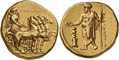 Cyrene. Stater, magistrate: Polianthes, 322-313 BC (AV, 19 mm, 8.65 g, 11 h). Naville 1951, n. 99.