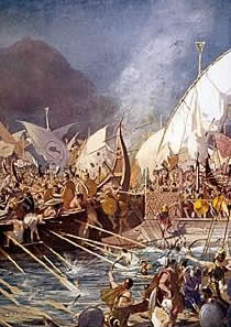 In der Schlacht von Salamis kämpften Schiffe aus Ainos auf Seiten der Perser.