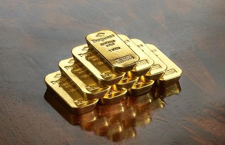 Degussa 1oz-Goldbarren.