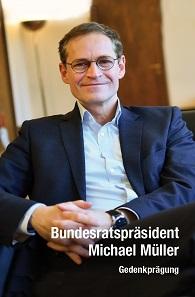Gedenkprägung der Münze Berlin: Bundesratspräsident Michael Müller.