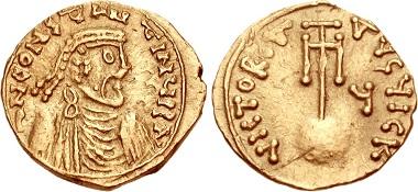 Constans II. (641-668). Semissis, Syrakus. Aus CNG, Auktion Triton 13 (2010), 1666.