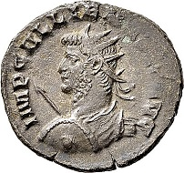Lot 5727: Roman Imperial times. Gallienus, 253-268. Antoninianus, 264/265, Mediolanum (Milan). Almost extremely fine/very fine. Estimate: 75 euros. Hammer price: 750 euros.